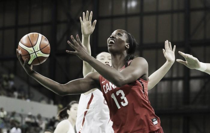 Canadá vence China com facilidade na estreia pelo basquete feminino