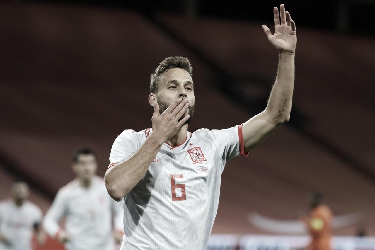 Sergio Canales, protagonista en el empate de 'La Roja' ante Países Bajos