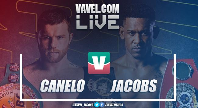 Resumen y highlights de la victoria por decisión Canelo vs Jacobs en Pelea 5 de Mayo