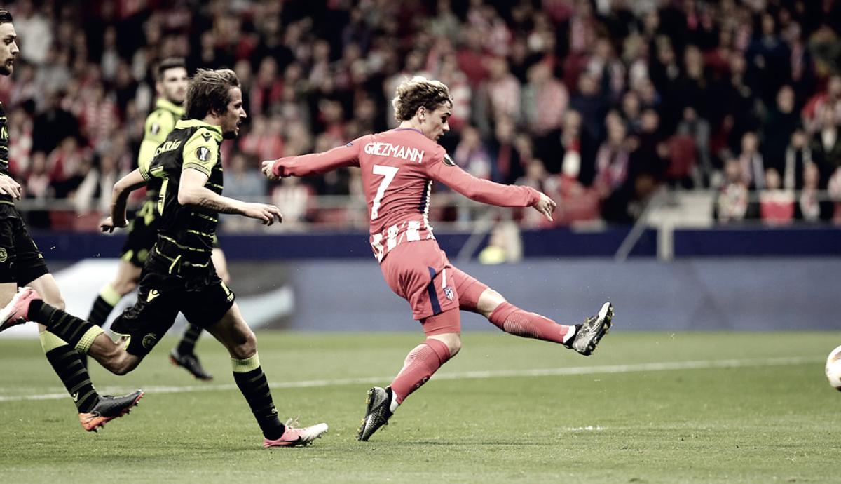 El Atlético de Madrid no perdona los errores del Sporting
