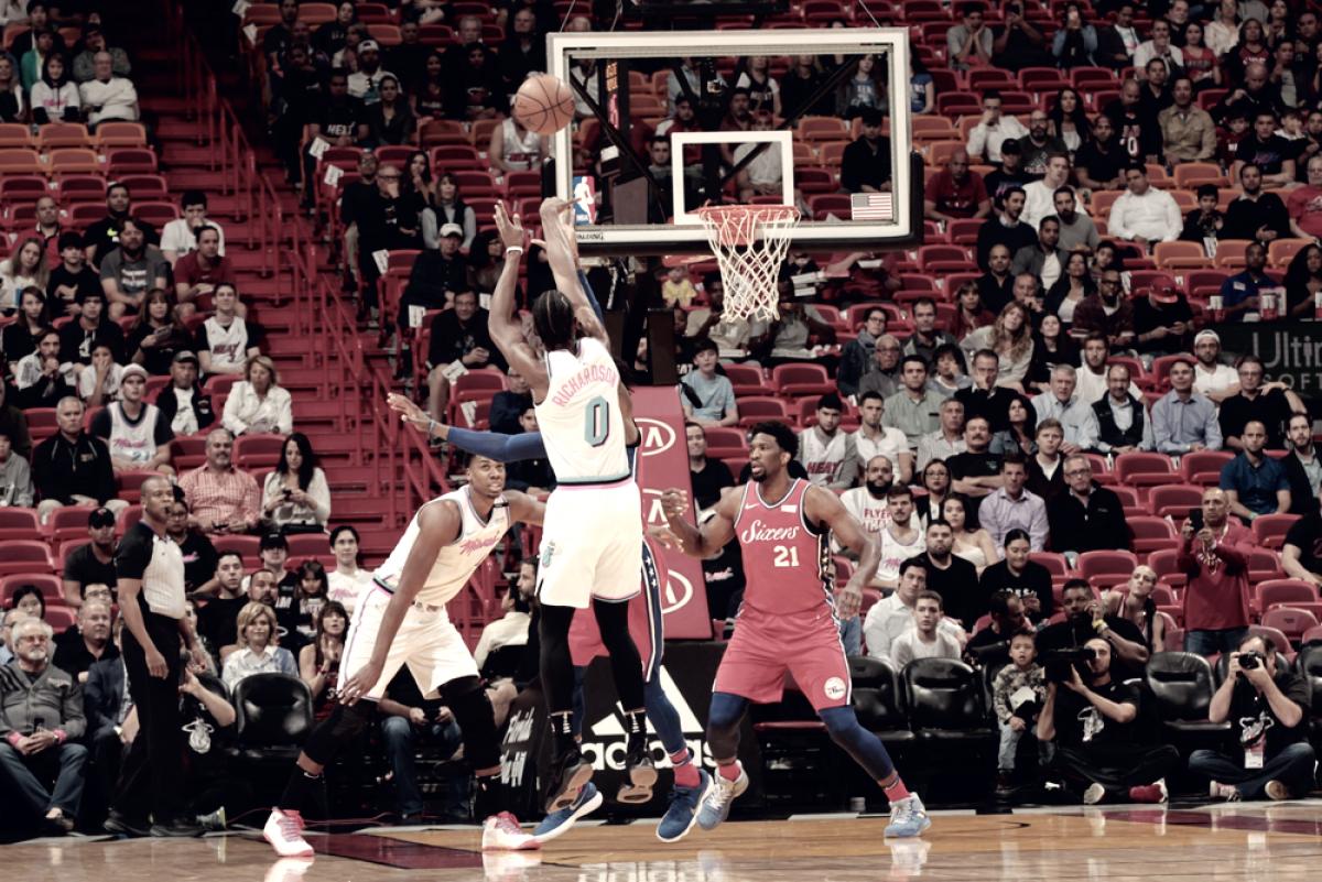 NBA - Whiteside sconfigge Embiid e Miami vince ancora contro Phila