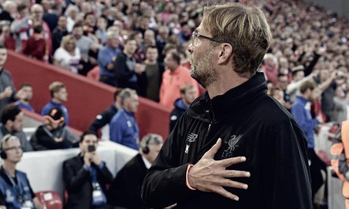 Cauteloso, Klopp comemora classificação do Liverpool à UCL