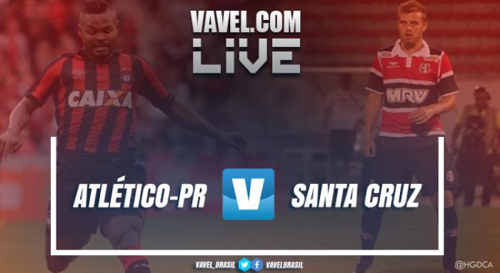 Resultado Atlético-PR 2x0 Santa Cruz pela Copa do Brasil 2017