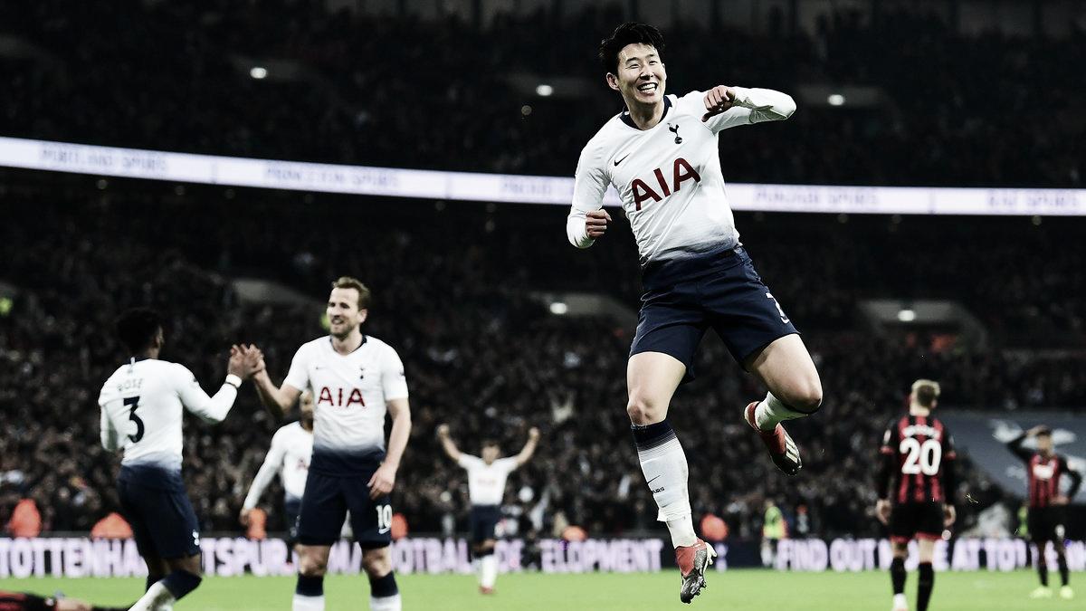 Tottenham massacra Bournemouth e termina rodada da Premier League na vice-liderança