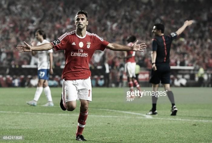 Benfica: Jonas operado fica de fora nas primeira semanas