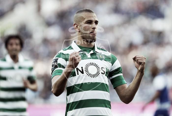 Sporting: leão Slimani festejou 6 golos nos clássicos em 2015/2016