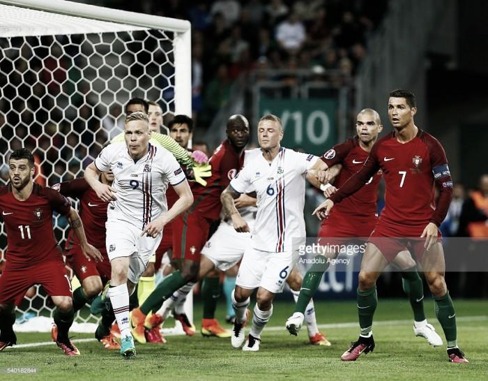 Portugal embateu no muro islândes: Nani não evita igualdade a 1 na estreia lusa no Euro