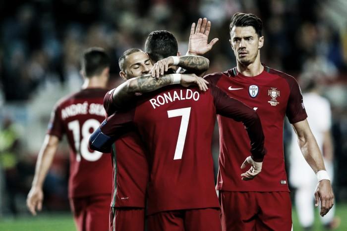 Portugal soma e segue na qualificação: Cristiano e Quaresma, a dupla imbatível