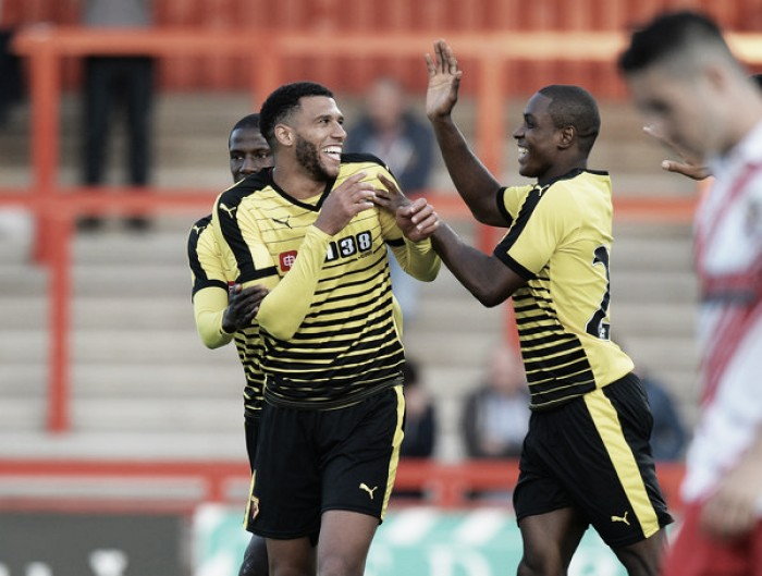Capoue speaks following Watford's win over Stevenage