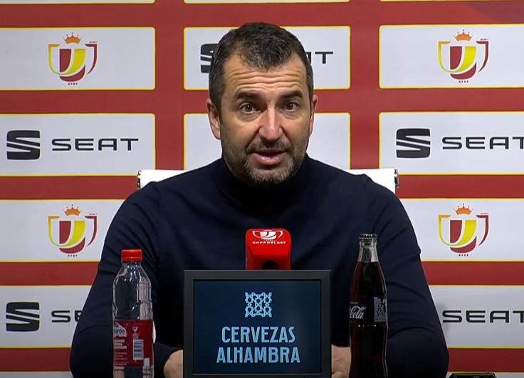 """Diego Martínez: """"La trayectoria del equipo ha sido extraordinaria en la Copa"""""""