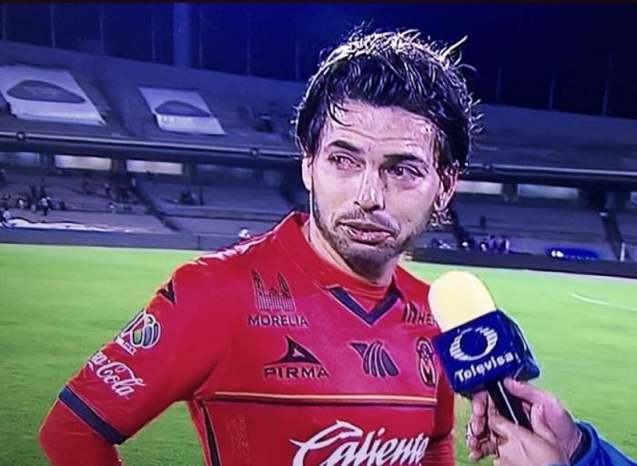 Carlos Morales rompió en llanto