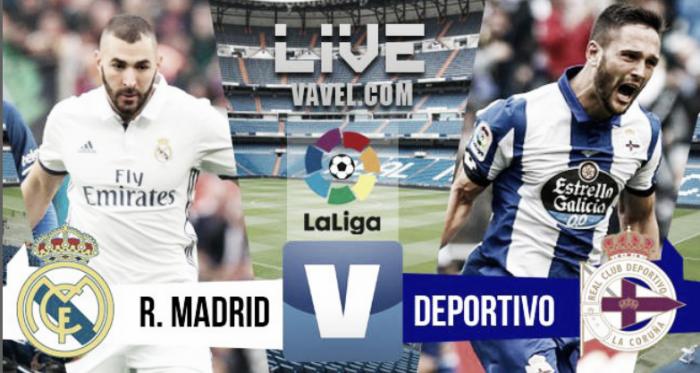 Resumen Real Madrid 3-2 Deportivo de la Coruña en La Liga 2016