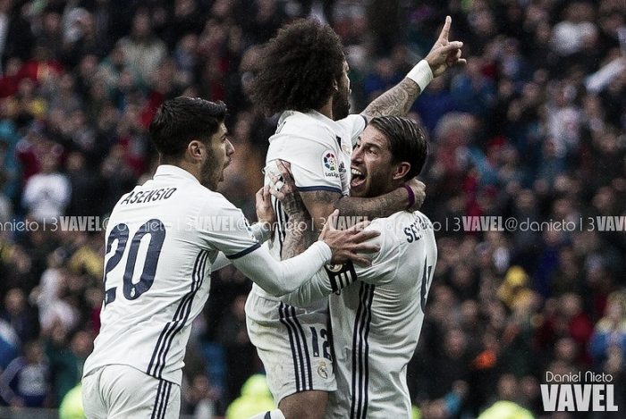 Marcelo salva al Madrid apelando a la épica