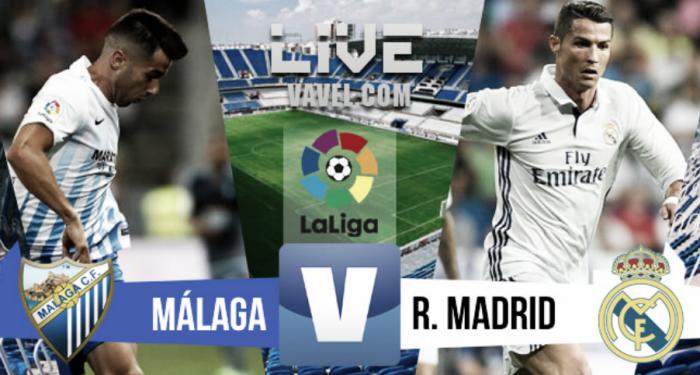 Resultado y goles Málaga 0-2 Real Madrid en la Liga 2016-2017