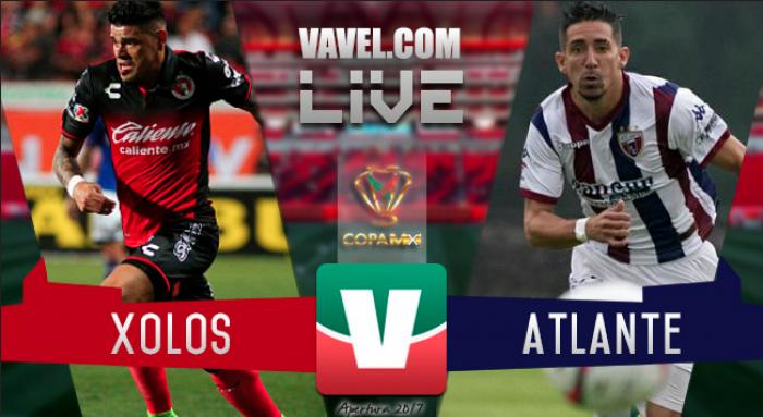 Resultado del partido Xolos vs Atlante en Copa MX (0-0)