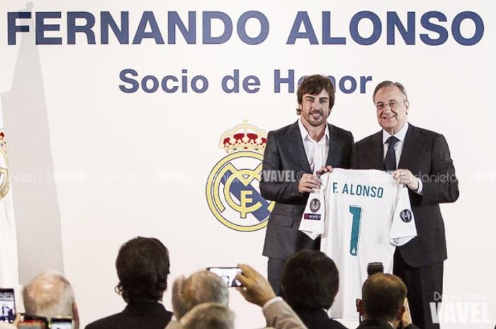 Fernando Alonso ya es socio de Honor del Real Madrid