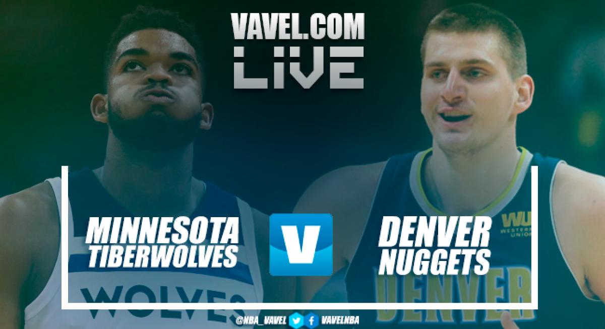 Resumen Minnesota Timberwolves vs Denver Nuggets en NBA 2018