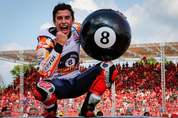 Márquez se hace con la victoria en Tailandia y el Mundial de MotoGP a falta de cuatro carreras
