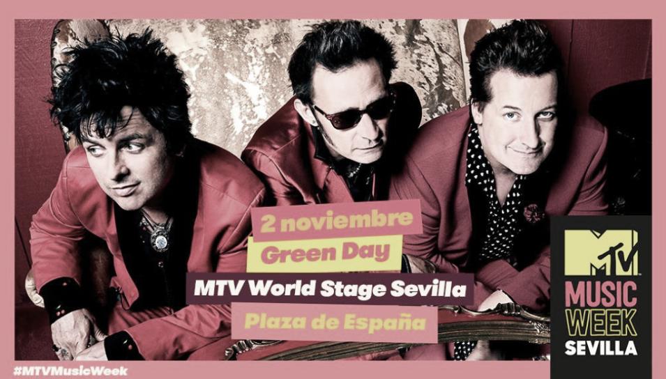 Green Day actuará en Plaza de España de Sevilla
