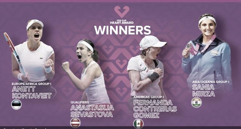 El Premio Corazón para Sevastova, Contreras, Mirza y Kontaveit