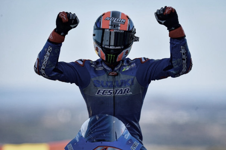 Alex Rins, victoria en el GP de Aragón / Fuente: motogp.com