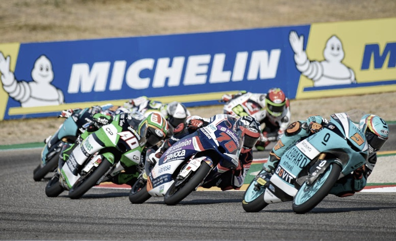 Diferentes pilotos de Moto3 en la carrera de Aragón / Fuente: motogp.com