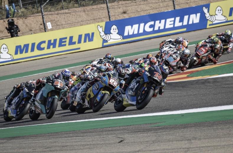 Pilotos de Moto2 en el Circuito de Aragón / Fuente: motogp.com
