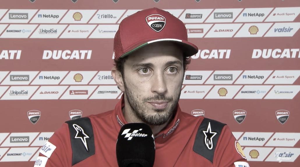 Andrea Dovizioso, después del GP de Teruel / Fuente: motogp.com