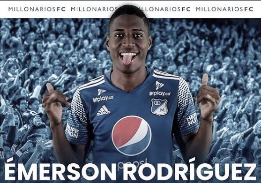 Emerson Rivaldo Rodríguez, jugador destacado de Millonarios ante Envigado FC