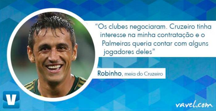 """Exclusivo: Robinho revela detalhes de sua ida ao Cruzeiro: """"Palmeiras queria alguns jogadores deles"""""""