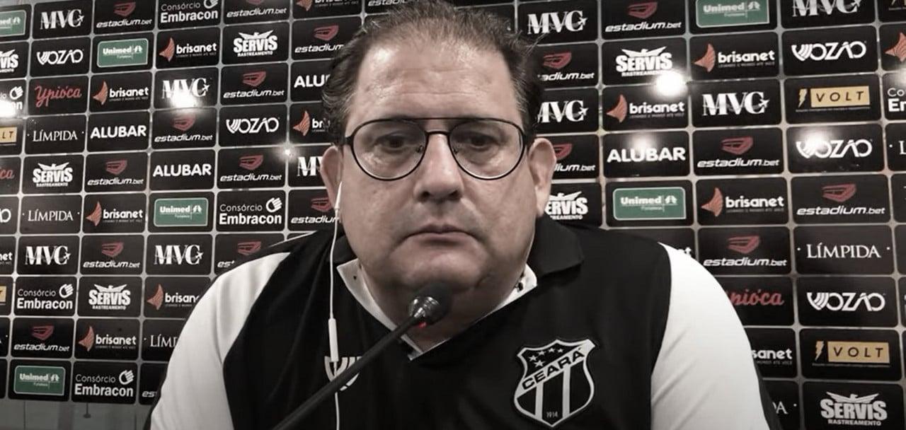"""Guto Ferreira reclama de arbitragem após derrota do Ceará: """"Causou danos à nossa equipe"""""""