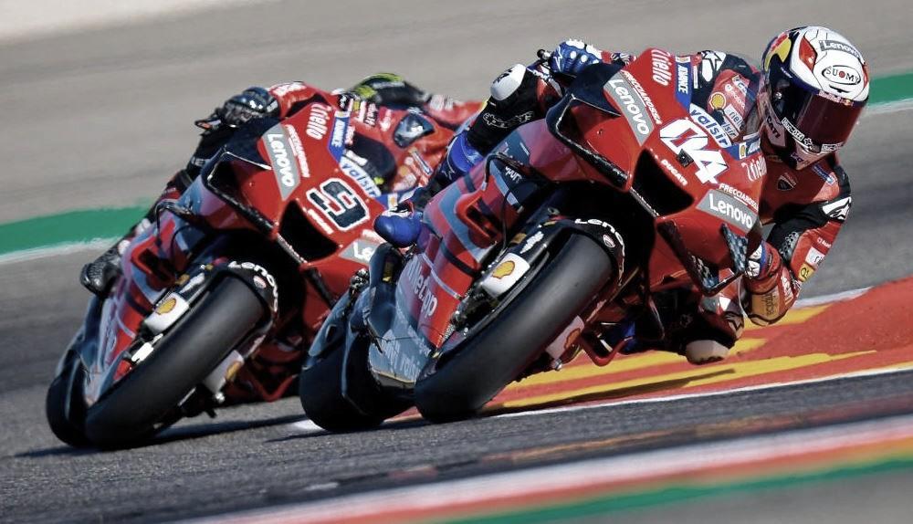 Andrea Doviziso y Danilo Petrucci en carrera / Fuente: MotoGP