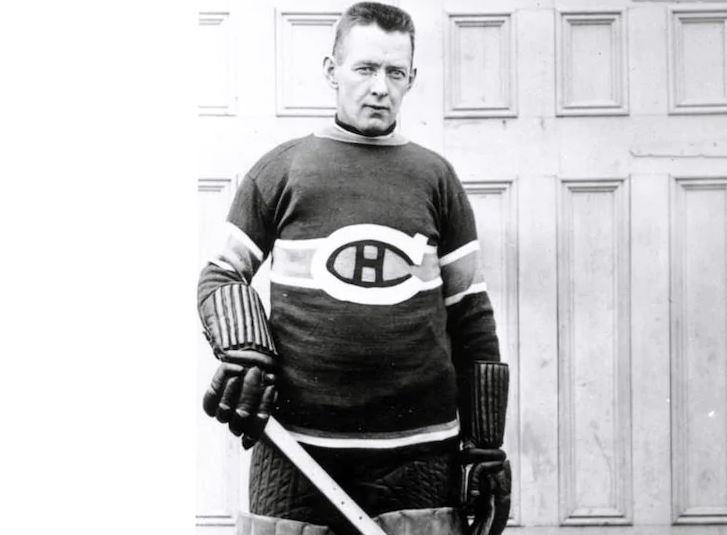 George Vézina, sous la tunique mythique du Canadien de Montréal (Source : nhl.com/canadiens)