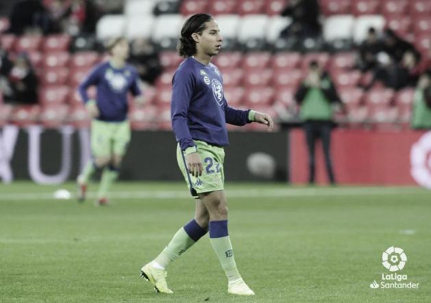 Diego Lainez antes se comenzar un partido | Foto: Liga Santander