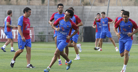 Pedro Ríos se ejercita con el grupo y El Zhar sufre una gastroenteritis