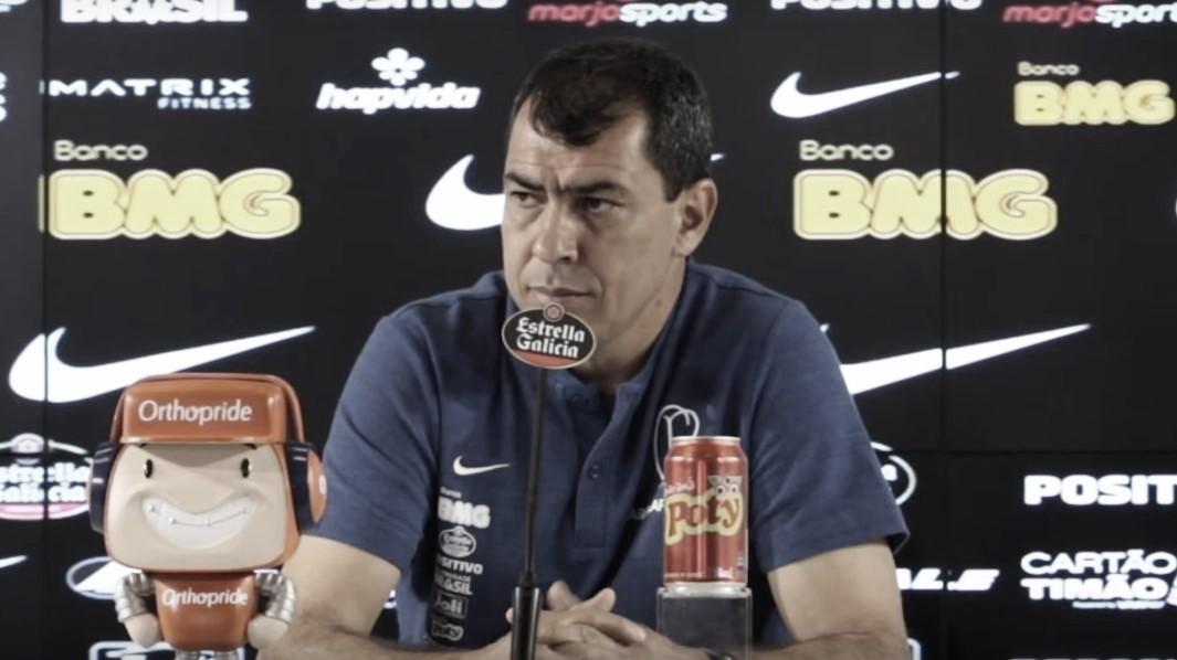"""Após mais uma vitória no Brasileirão, Carille afirma: """"Temos que pensar sempre alto"""""""