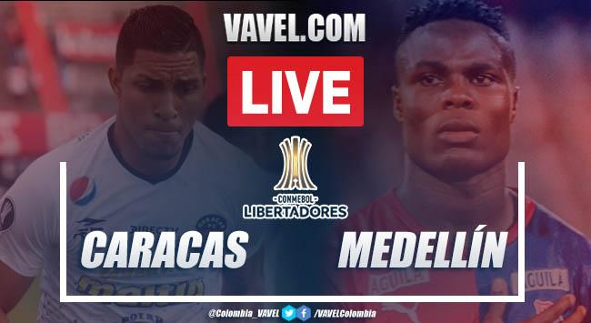 Resumen: Caracas vs Medellín (0-2) en Copa Libertadores