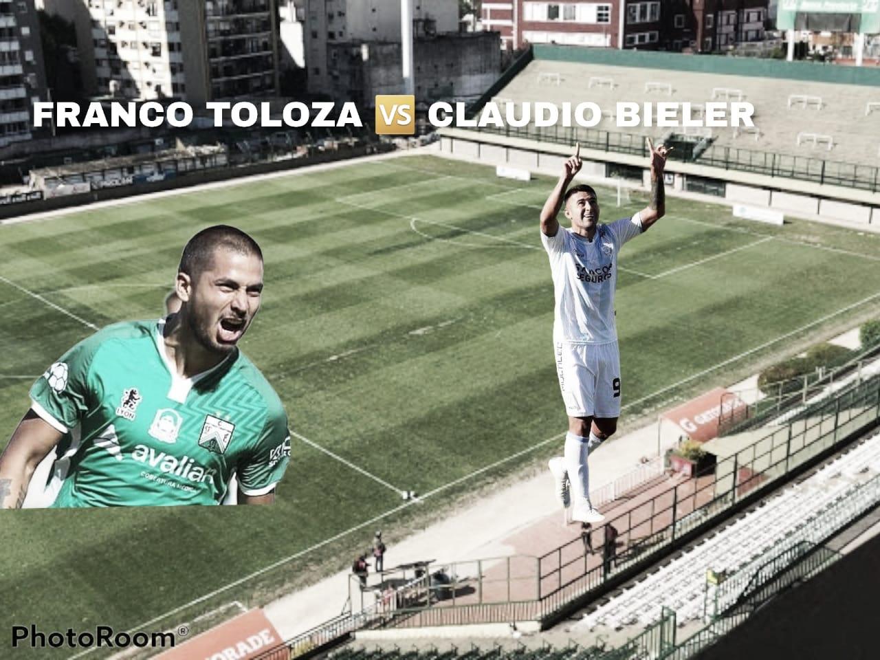 Franco Toloza vs Claudio Bieler: Los ojos en los artilleros