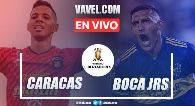 Goles y Resumen:Caracas FC 1-1 Boca Juniors, Copa Libertadores 2020