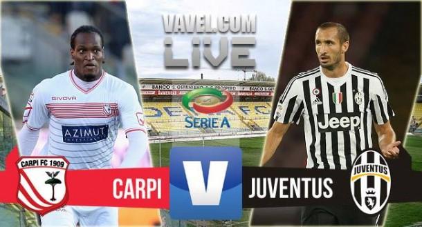 Risultato Carpi - Juventus, Serie A 2015/2016 (2-3): Borriello, Mandzukic (2), Pogba, aut. Bonucci
