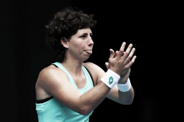 Carla Suárez da primero