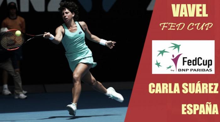 Fed Cup 2018. Carla Suárez: líder del equipo español