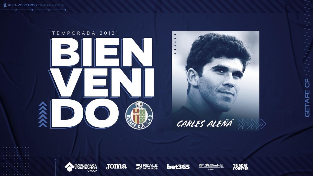 Fichaje de Carles Aleñá por el Getafe // Fuente: Getafe CF