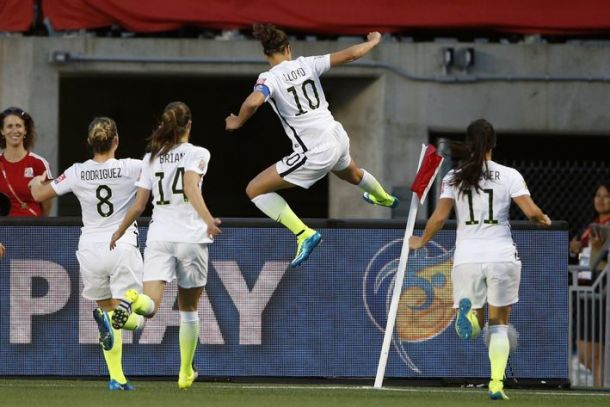 Score USA vs Germany in 2015 Women's World Cup Semi-Finals (2-0)