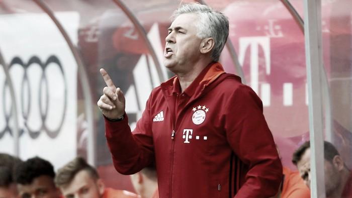 """Ancelotti elogia legado de Guardiola no Bayern, mas avisa: """"Eu tento fazer algo novo"""""""