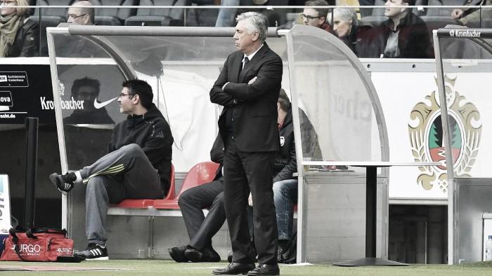"""Após sequência de três jogos sem vencer, Ancelotti alerta:""""Espero que não aconteça de novo"""""""