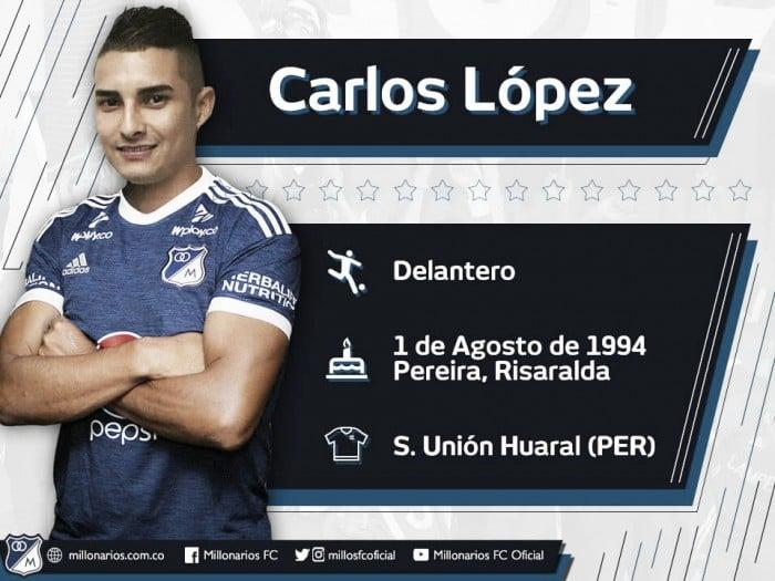Carlos López Vanegas, nuevo jugador de Millonarios