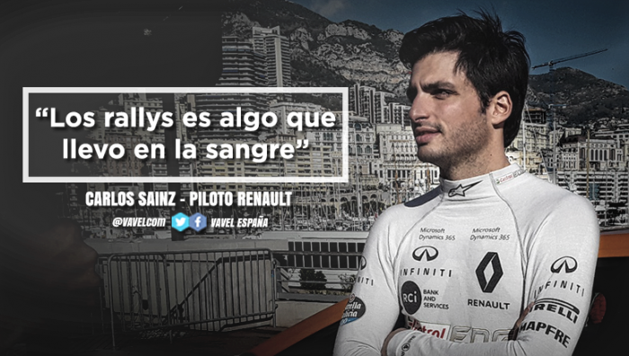 """Carlos Sainz: """"Los rallys es algo que llevo en la sangre"""""""