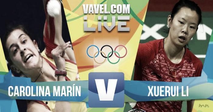 Resumen Carolina Marín vs Li Xuerui en Juegos Olímpicos Río 2016