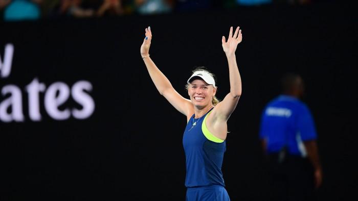 L'émotion de la jolie blonde Caroline Wozniacki (Source Image : Australian Open)